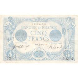 F 02-28 - 1915 - 5 francs - Bleu - Etat : TTB+