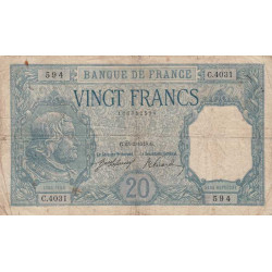 France - Fay-11-03 - 1918 - 20 francs Bayard