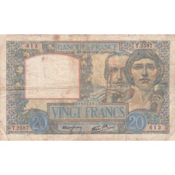 F 12-11 - 19/12/1940 - 20 francs - Science et Travail - Etat : TB-