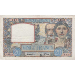 F 12-15 - 16/06/1941 - 20 francs - Science et Travail - Etat : TTB