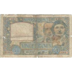 F 12-16 - 1940 - 20 francs - Science et Travail - Etat : B-