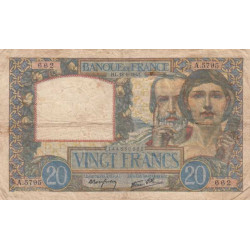 F 12-18 - 1940 - 20 francs - Science et Travail - Etat : TB-
