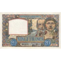 F 12-18 - 18/09/1941 - 20 francs - Science et Travail - Etat : SUP