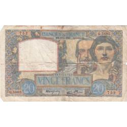 F 12-18 - 18/09/1941 - 20 francs - Science et Travail - Etat : B-
