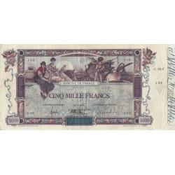 France - Fayette 43-01 - 1918 - 5000 francs Flameng