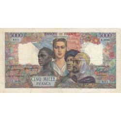 F 47-61 - 17/07/1947 - 5000 francs - Empire Français - Etat : TB+