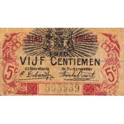 Belgique - Bruge -  BR193 - 5 centimes - 1914 - Etat : TB