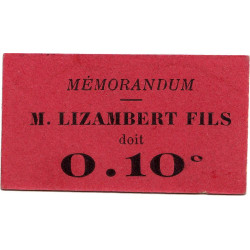 38-Grenoble - Lizambert Fils - 10 centimes