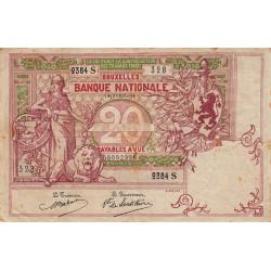 Belgique - Pick 67 - 20 francs - 1914 - Etat : TB+