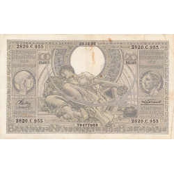 Belgique - Pick 107_2 - 100 francs ou 20 belgas - 1936 - Etat : TB+