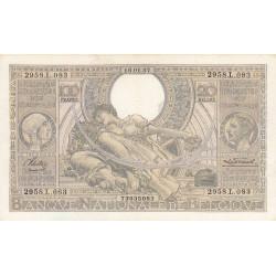 Belgique - Pick 107_2 - 100 francs ou 20 belgas - 1937 - Etat : SUP
