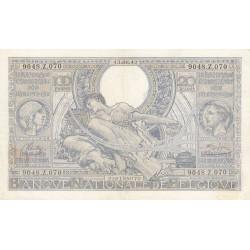 Belgique - Pick 107_4 - 100 francs ou 20 belgas - 1942 - Etat : SUP-