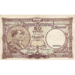 Belgique - Pick 111_4 - 20 francs - 1944 - Etat : TTB