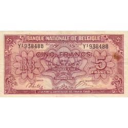 Belgique - Pick 121_1 - 5 francs ou 1 belga - 1943 - Etat : TTB