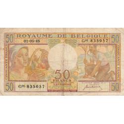 Belgique - Pick 133a - 50 francs - 1948 - Etat : TB