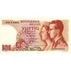 Belgique - Pick 139_1 - 50 francs - 1966 - Etat : SUP