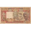 Côte d'Ivoire - Pick 109Aj- 10'000 francs - 1991 - Etat : B+