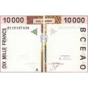 Côte d'Ivoire - Pick 114Aj - 10'000 francs - 2001 - Etat : SUP