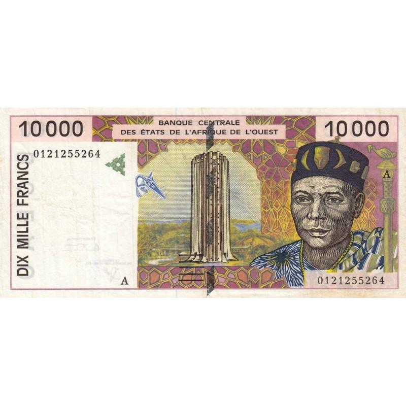 Côte d'Ivoire - Pick 114Aj - 10'000 francs - 2001 - Etat : TTB