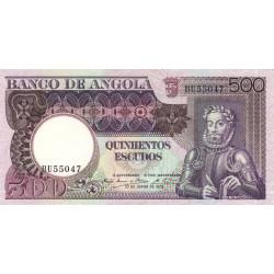 Angola - Pick 107 - 500 escudos - 1973 - Etat : NEUF