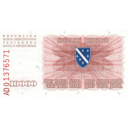 Bosnie Herzegovine - Pick 17a - 10'000 dinara - 1993 - Etat : NEUF