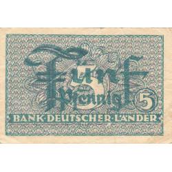 Allemagne RFA - Pick 11_2 - 5 pfennig - 1948 - Etat : TTB