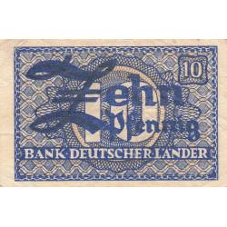 Allemagne RFA - Pick 12_1 - 10 pfennig - 1948 - Etat : TTB