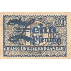 Allemagne RFA - Pick 12_2 - 10 pfennig - 1948 - Etat : TTB