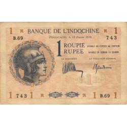 Inde Française - Pick 4d-1 - 1 roupie - 1936