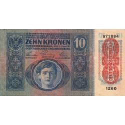 Autriche - Pick 51a_2 - 10 kronen - 1919 - Etat : TB+