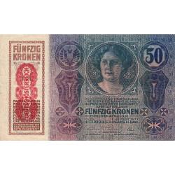 Autriche - Pick 54a - 50 kronen - 1919 - Etat : TB