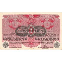 Autriche - Pick 49 - 1 krone - 1919 - Etat : TTB