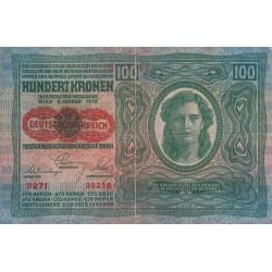 Autriche - Pick 56a - 100 kronen - 1919 - Etat : TB