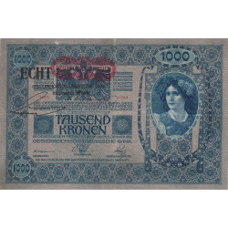 Autriche - Pick 58 - 1'000 kronen - 1919 - Etat : TB+