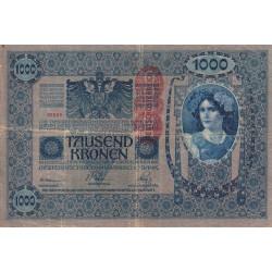 Autriche - Pick 59 - 1'000 kronen - 1919 - Etat : TB-