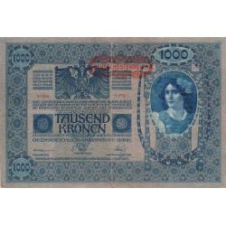 Autriche - Pick 60 - 1'000 kronen - 1919 - Etat : TB