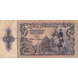 Autriche - Pick 127 - 10 shilling - 1950 - Etat : B