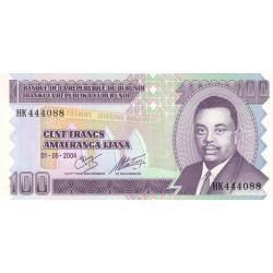 Burundi - Pick 37d - 100 francs - 2004 - Etat : NEUF