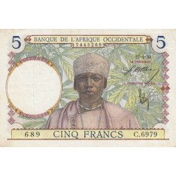 AOF - Pick 21_2d - 5 francs