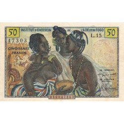 AOF - Pick 45 - 50 francs - Etat : SUP