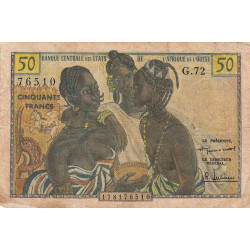 Etats Afrique Ouest - Pick 1 - 50 francs - Etat : B+