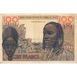 Etats Afrique Ouest - Pick 2b - 100 francs - Etat : TB