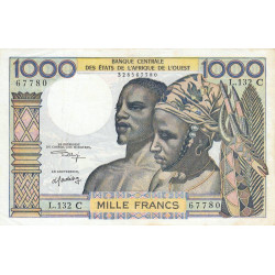 Burkina-Faso - Pick 303Cl - 1'000 francs - 1975 - Etat : TTB+