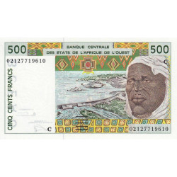 Burkina-Faso - Pick 310Cm - 500 francs - 2002