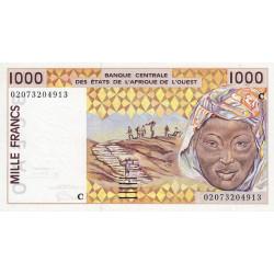 Burkina-Faso - Pick 311Cm - 1'000 francs - 2002 - Etat : SUP+