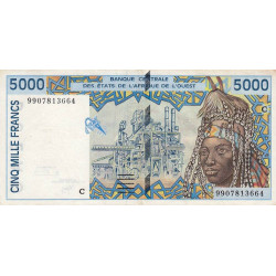 Burkina-Faso - Pick 313Ci - 5'000 francs - 1999