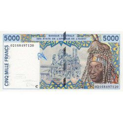 Burkina-Faso - Pick 313Cl - 5'000 francs - 2002 - Etat : NEUF