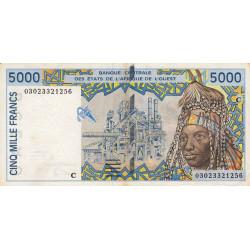 Burkina-Faso - Pick 313Cm - 5'000 francs - 2003 - Etat : TTB+
