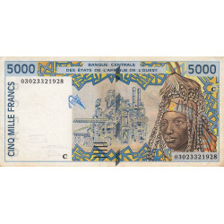 Burkina-Faso - Pick 313Cm - 5'000 francs - 2003
