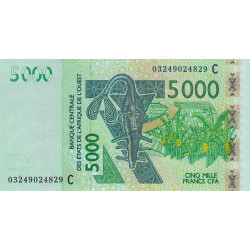Burkina-Faso - Pick 317Ca - 5'000 francs - 2003